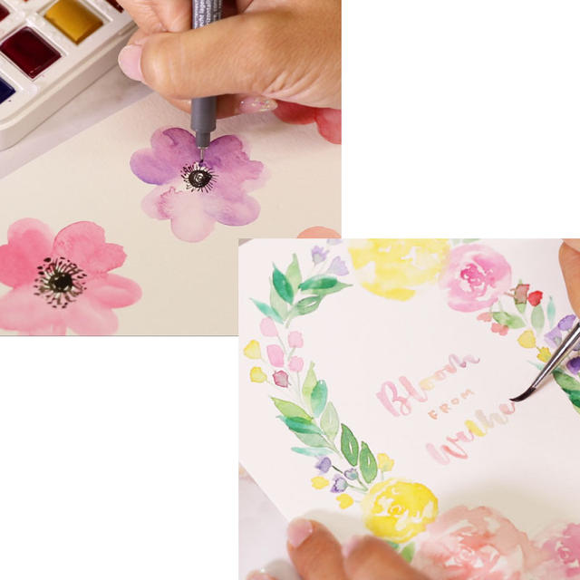 Watercolor Florals: Flowers Package