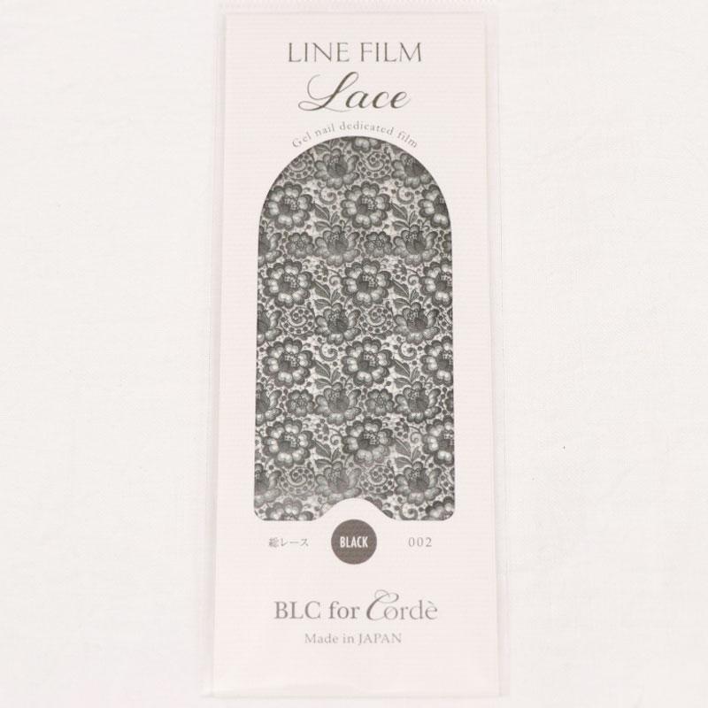 BLC for CORDE ラインフィルム Lace 総レース 002 ブラック 95×48mm
