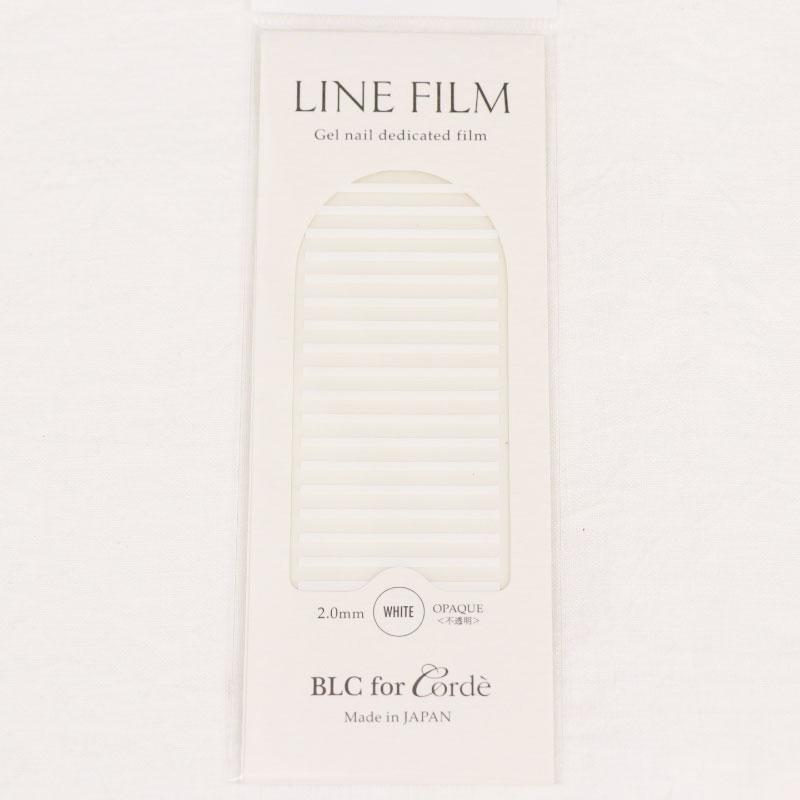 BLC for CORDE ラインフィルム OPAQUE〈不透明〉ホワイト 2.0×40mm 19本入