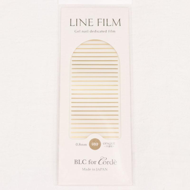 BLC for CORDE ラインフィルム OPAQUE〈不透明〉ゴールド 0.8×40mm 25本入
