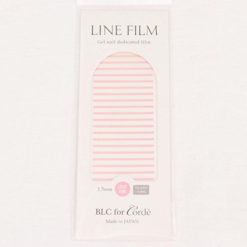 BLC for CORDE ラインフィルム TRANS〈半透明〉ライトピンク 1.5×40mm 25本入