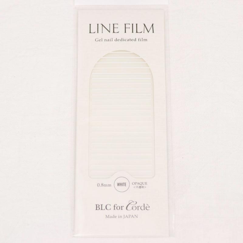 BLC for CORDE ラインフィルム OPAQUE〈不透明〉ホワイト 0.8×40mm 25本入