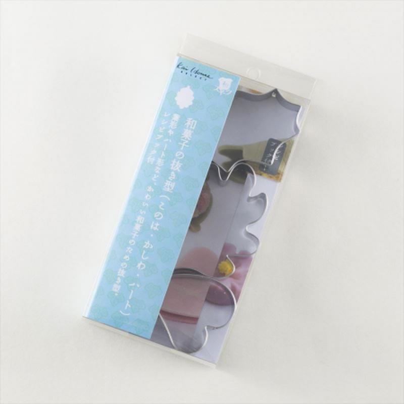 貝印 和菓子の金属抜き型 (このは・かしわ・ハートセット)