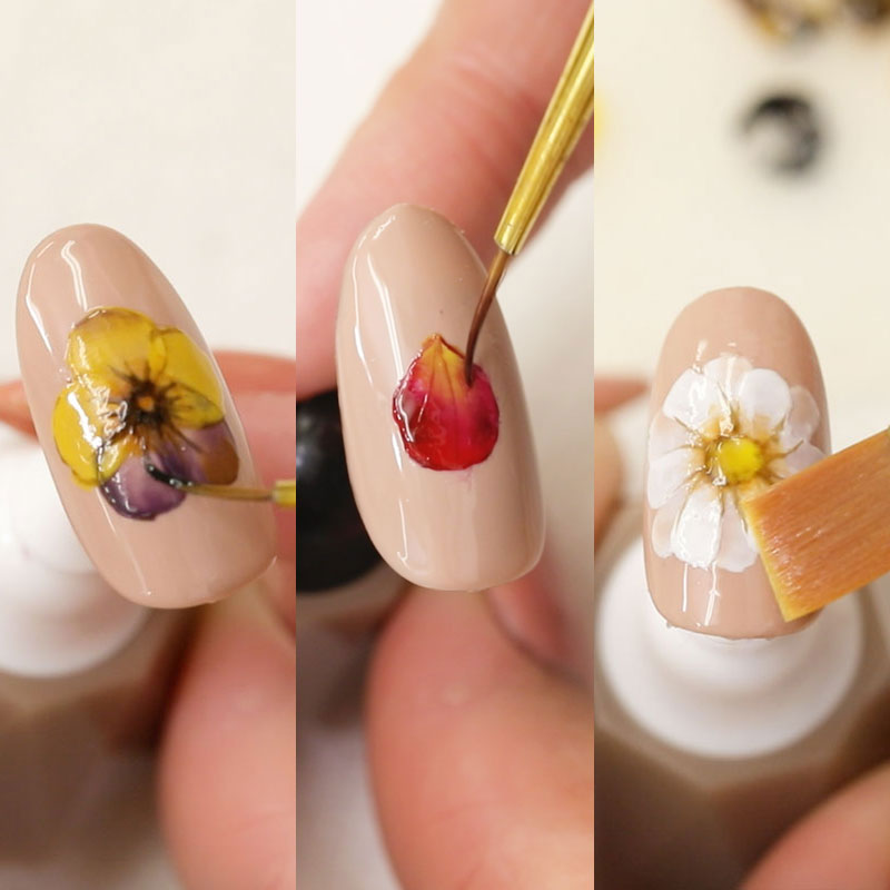 Gel Flower Paint Lessons