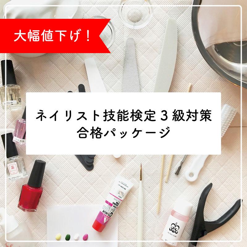 ★道具つき★ネイリスト技能検定3級対策 合格パッケージ