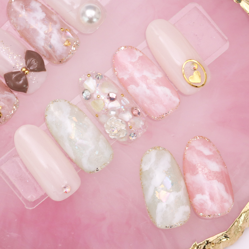 Easy Cute Marble Nails