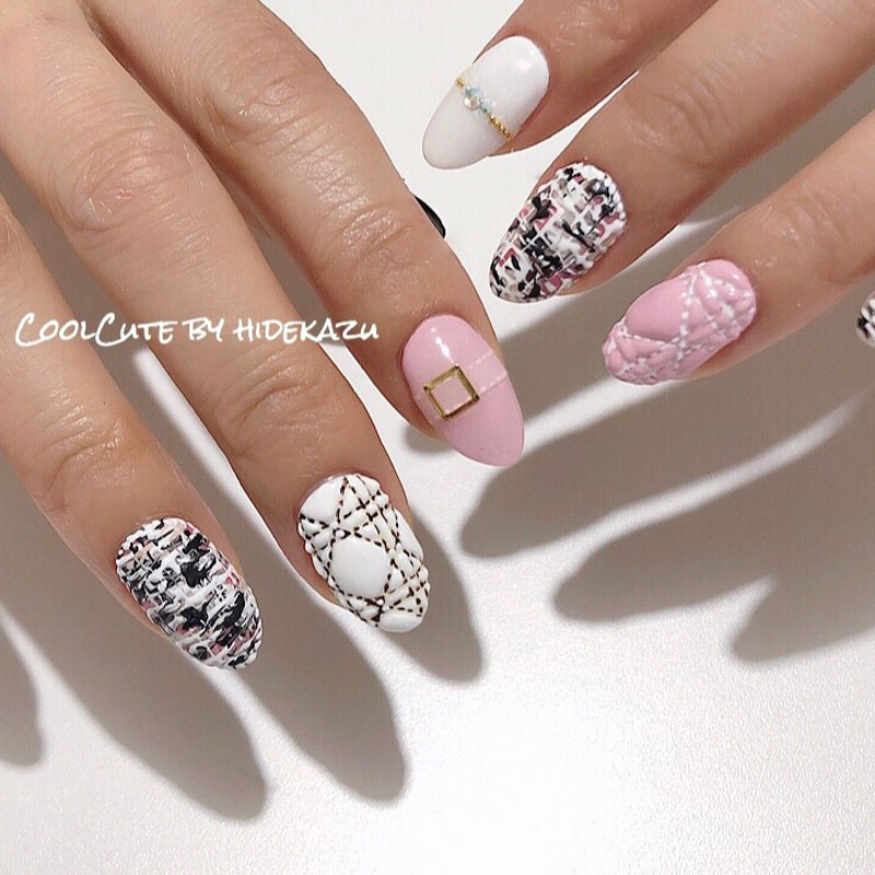 Classy Quilted Nail Art
