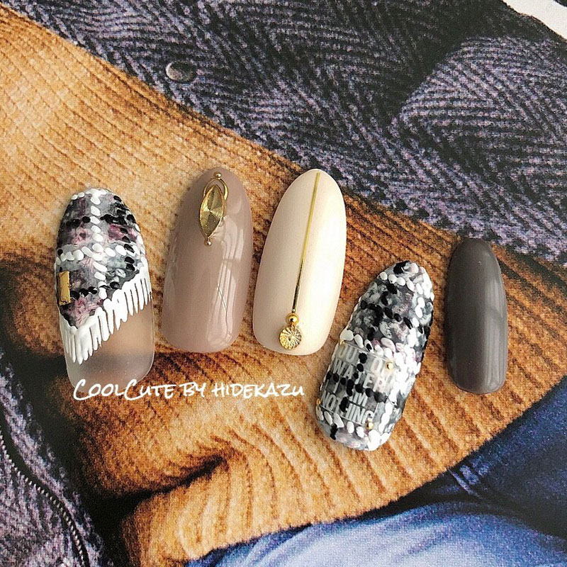 Chequer Knit Nail