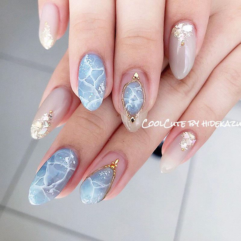 海纹石美甲