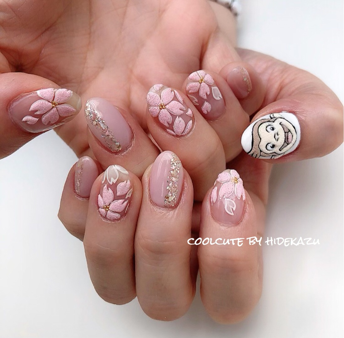 Textured Sakura Nails
