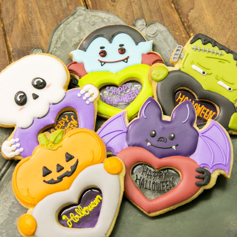 HALLOWEEN STAINED GLASS COOKIES