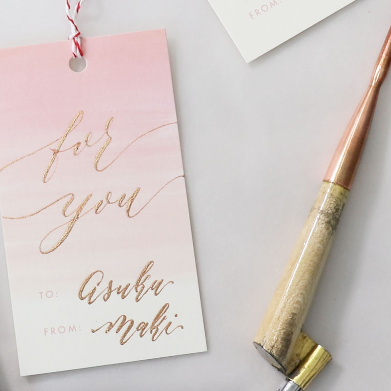 Pointed-Pen Modern Calligraphy: Valentine's Day Tag