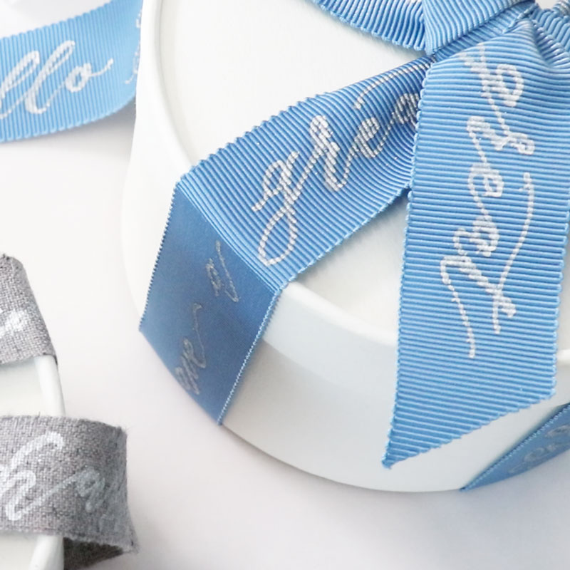 Modern Calligraphy on Ribbons