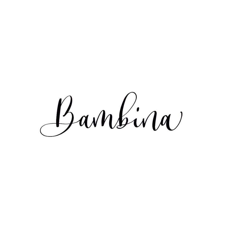 数码美术字 「Bambina Script」字体的书写方法