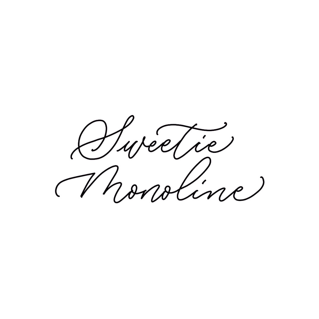 "Digital Lettering: How to Write ""Sweetie Monoline"" Fonts"