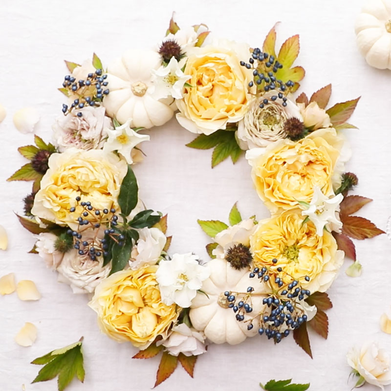 Flower Styling for Mock Wreath
