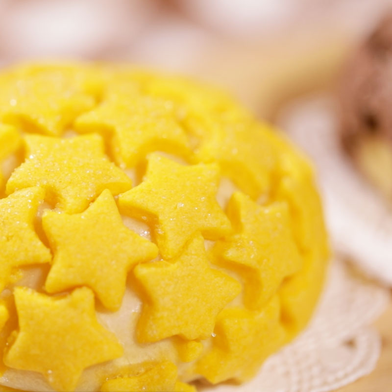 Basic melon bread de cotta with stars