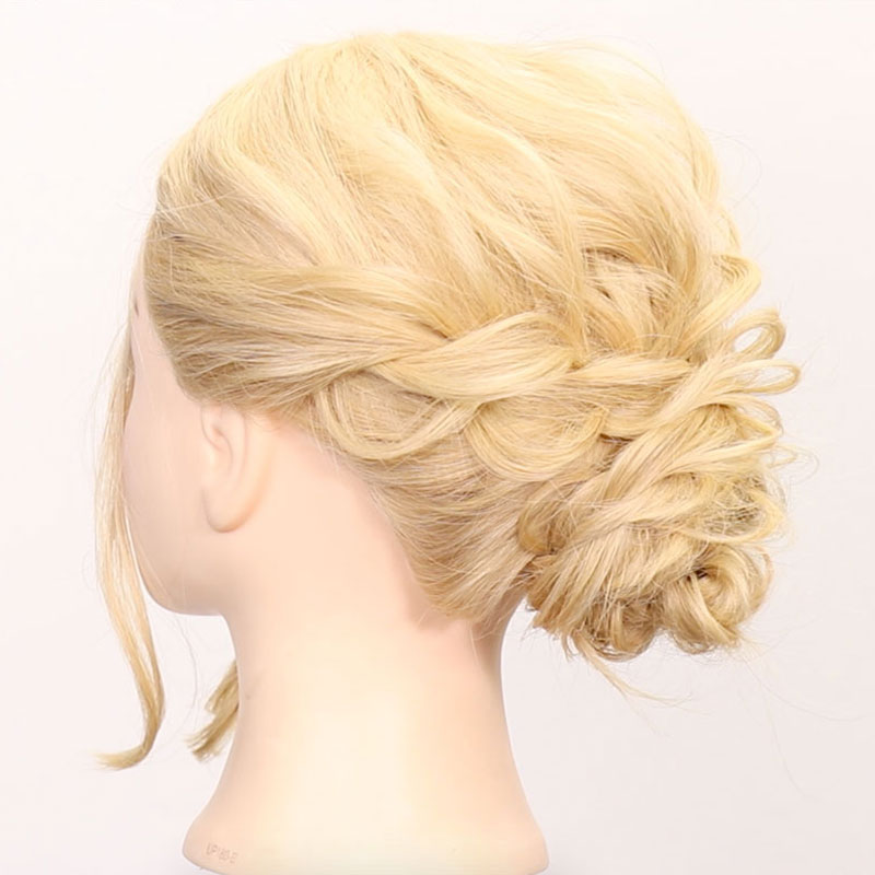 For hairdresser! Elegant lower chignon arrange