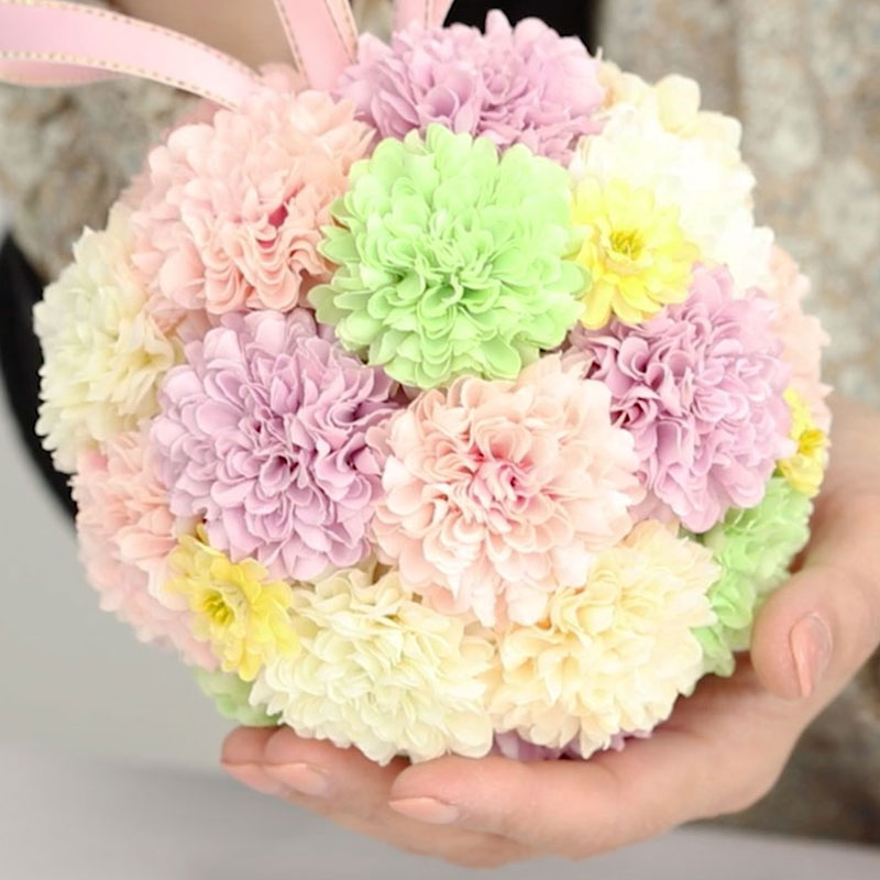 Pom-pom Chrysanthemum Ball Arrangement