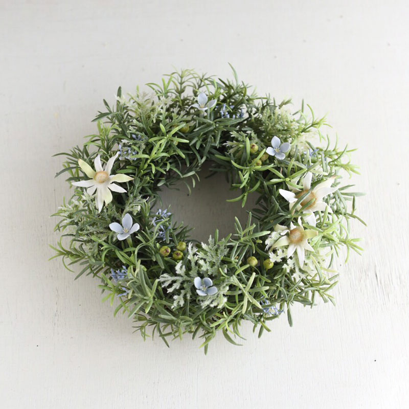 Natural Green Wreath with Rosemary