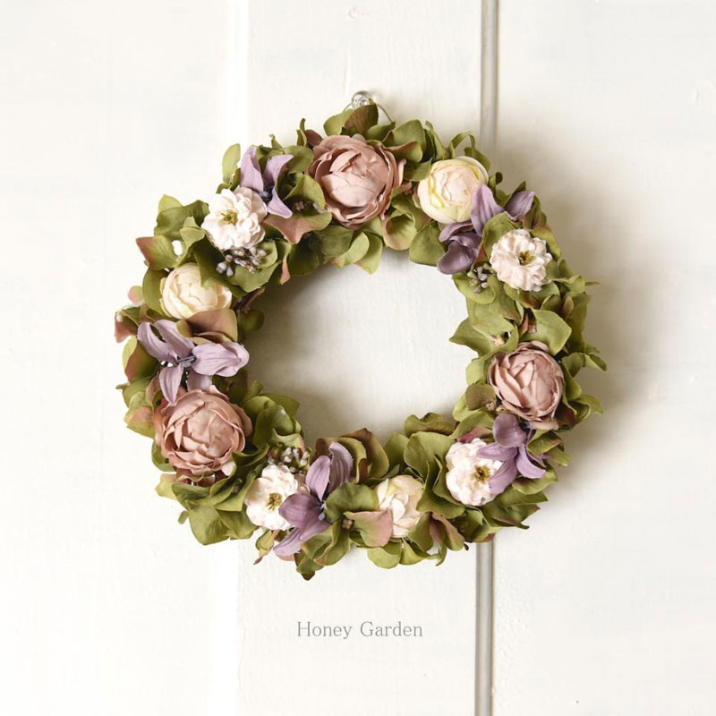 Flower mini wreath
