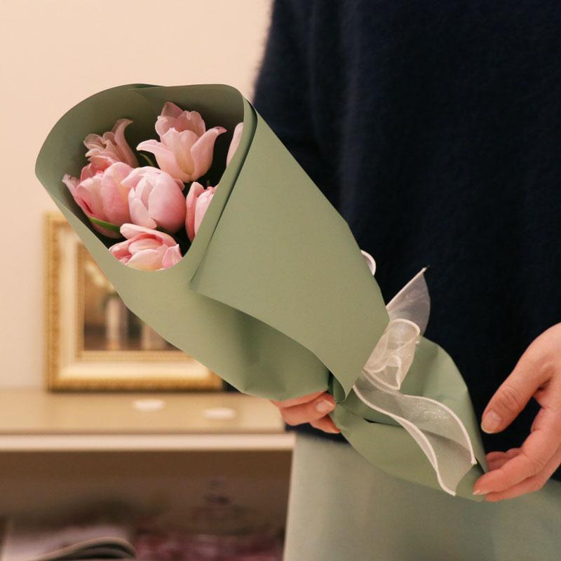 お花を贈ろう 初級編 チューリップのブーケ&ラッピング