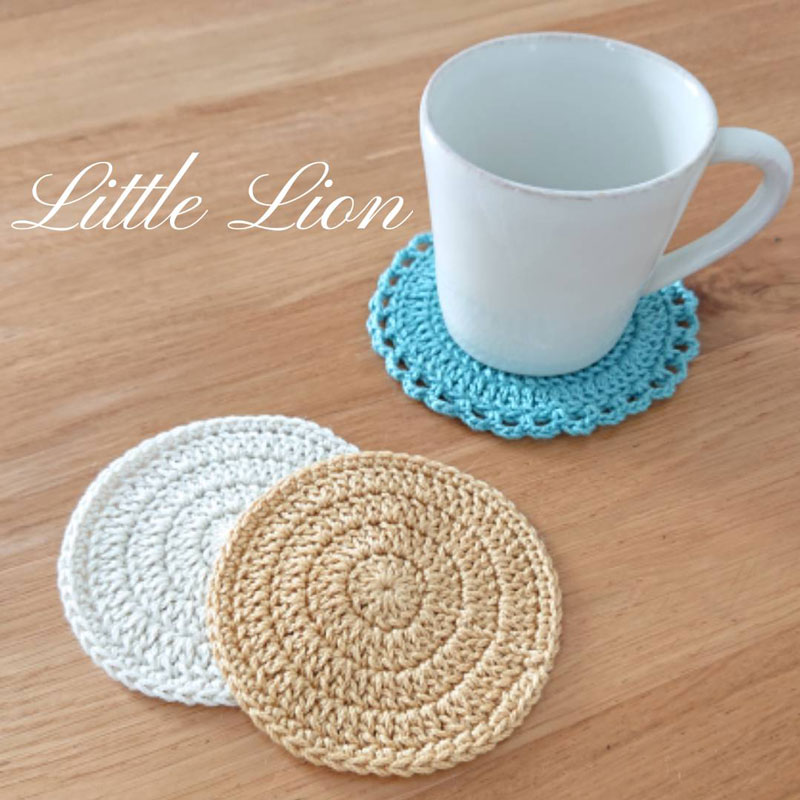基本的编织方法~杯垫的做法~