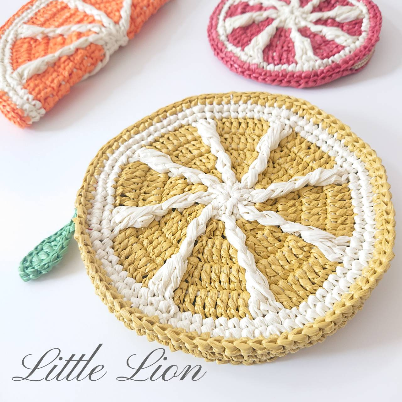 Lemon Coin Purse ~Variations of Fruit Pouch Bags①~