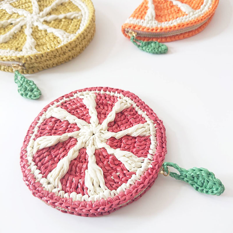 Blood Orange Coin Purse ~Variations of Fruit Pouch Bags②~