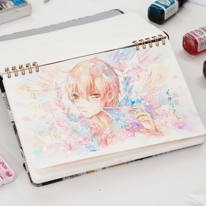 Drawing a Boy in Watercolor