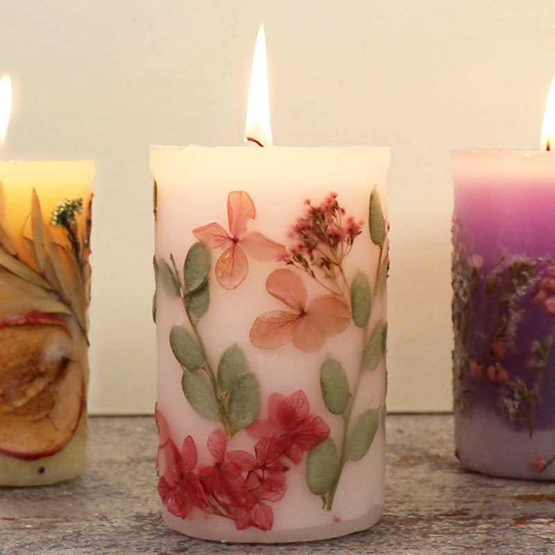 3D Botanical Candle