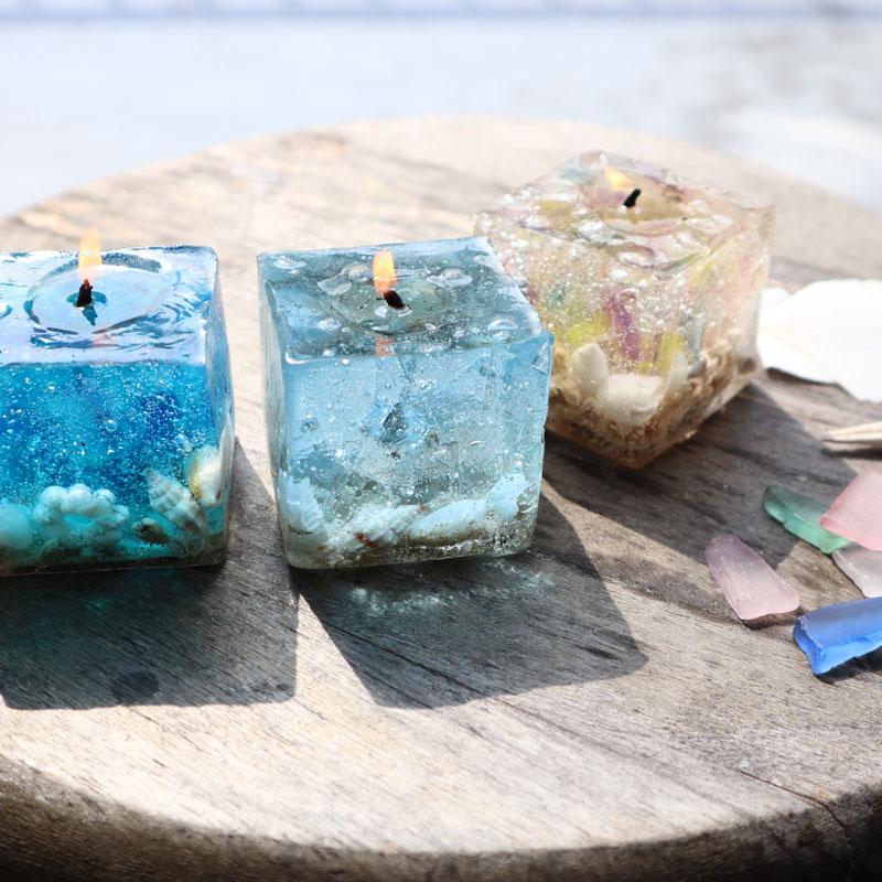 海贝壳盒装蜡烛
