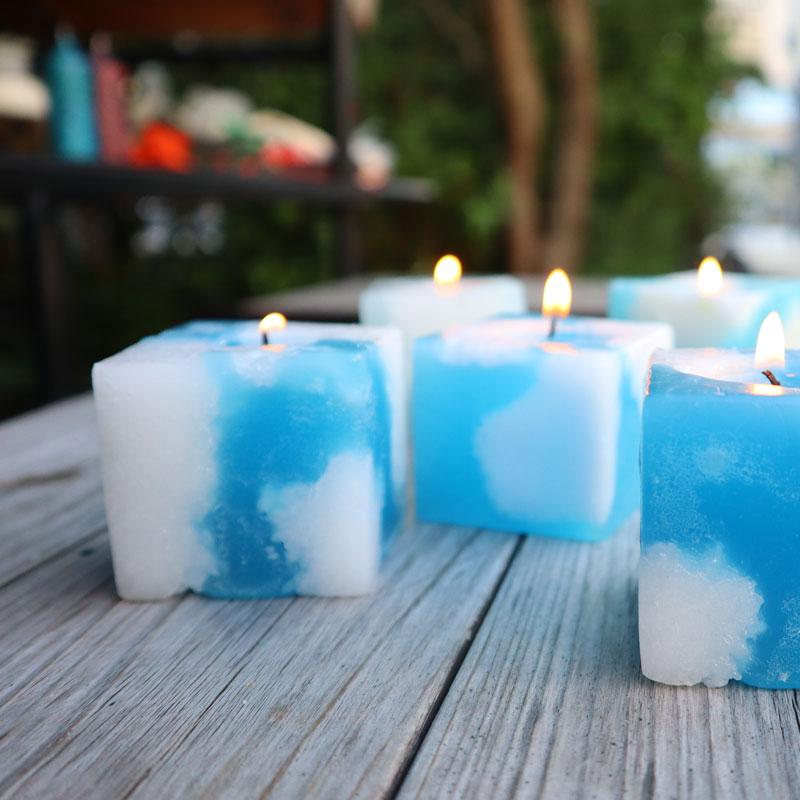 天空立方体蜡烛