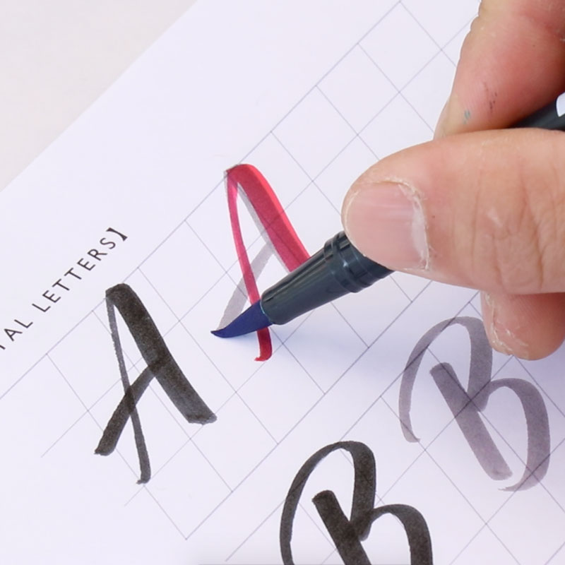 Brush Calligraphy (Capital Letter)