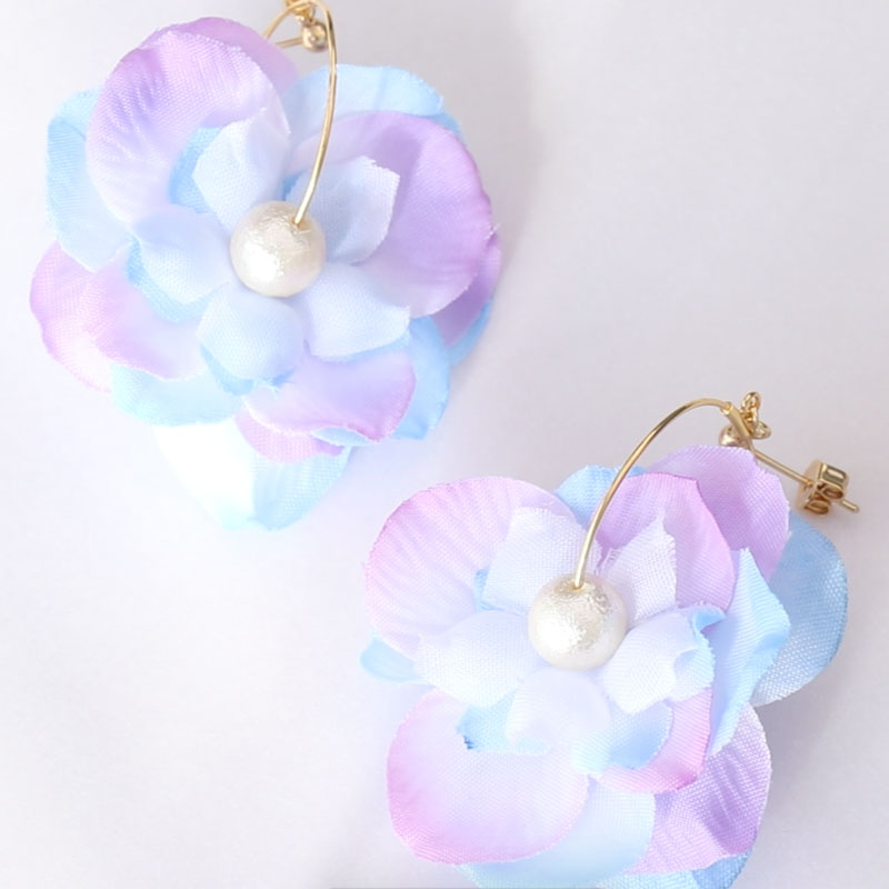 Easy Artificial Flower Earrings