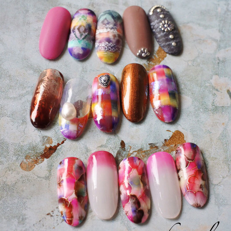 Cattleya Nail Design Set