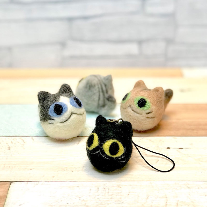 【初級レッスン】猫ストラップ