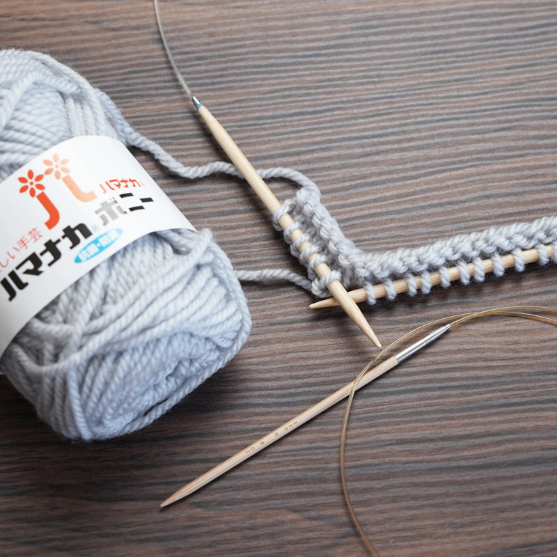 基础的编织方法「针对不擅长将线撑在左手上的人」