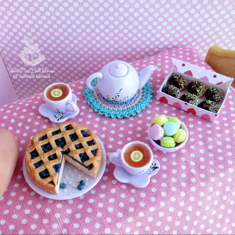 【In Russian】【Eng Sub】Miniature Pie of Polymer Clay