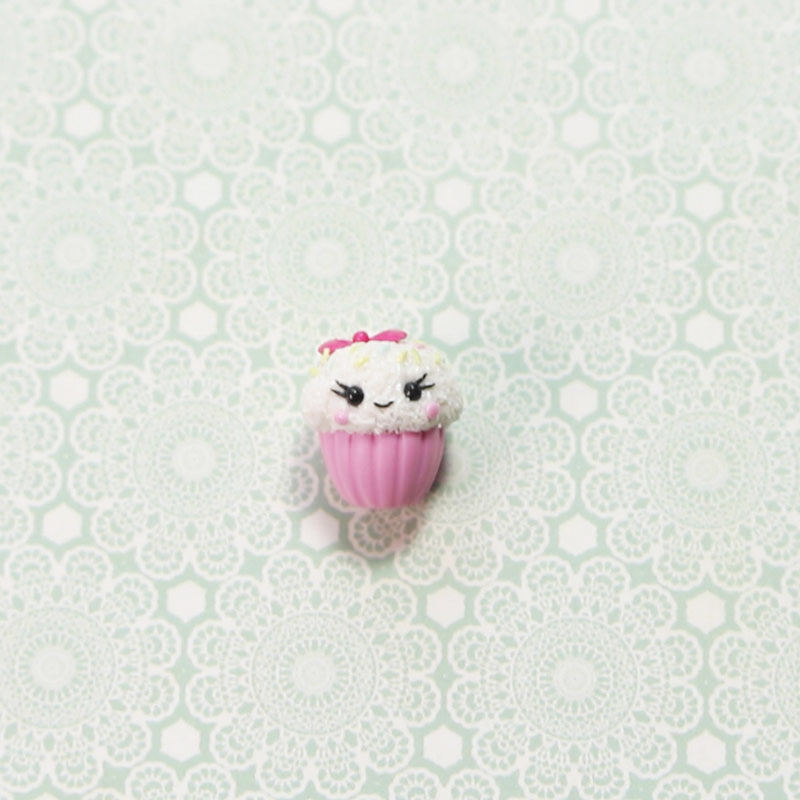 Miniature Cupcake of Polymer Clay
