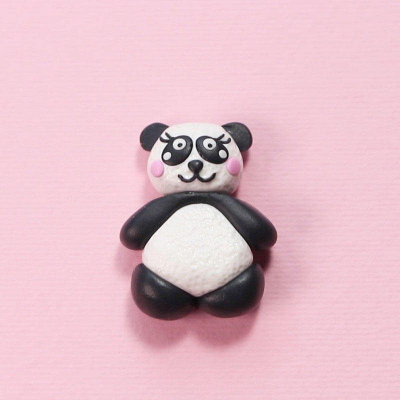 Miniature Panda of Polymer Clay