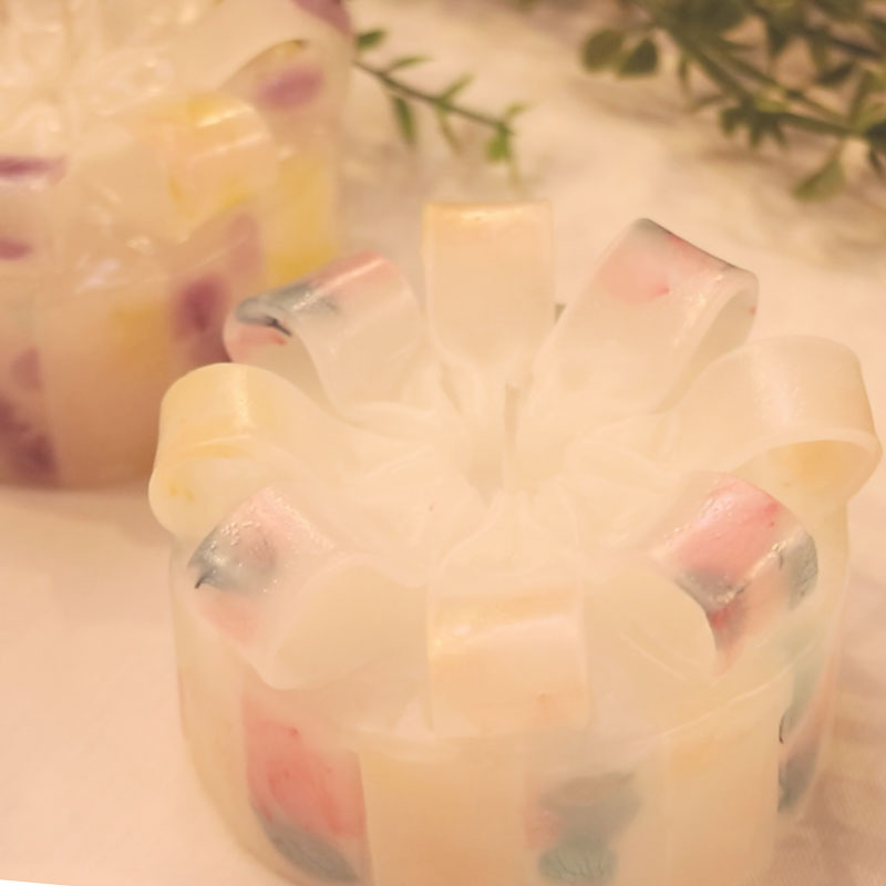 Flower Ribbon Candle