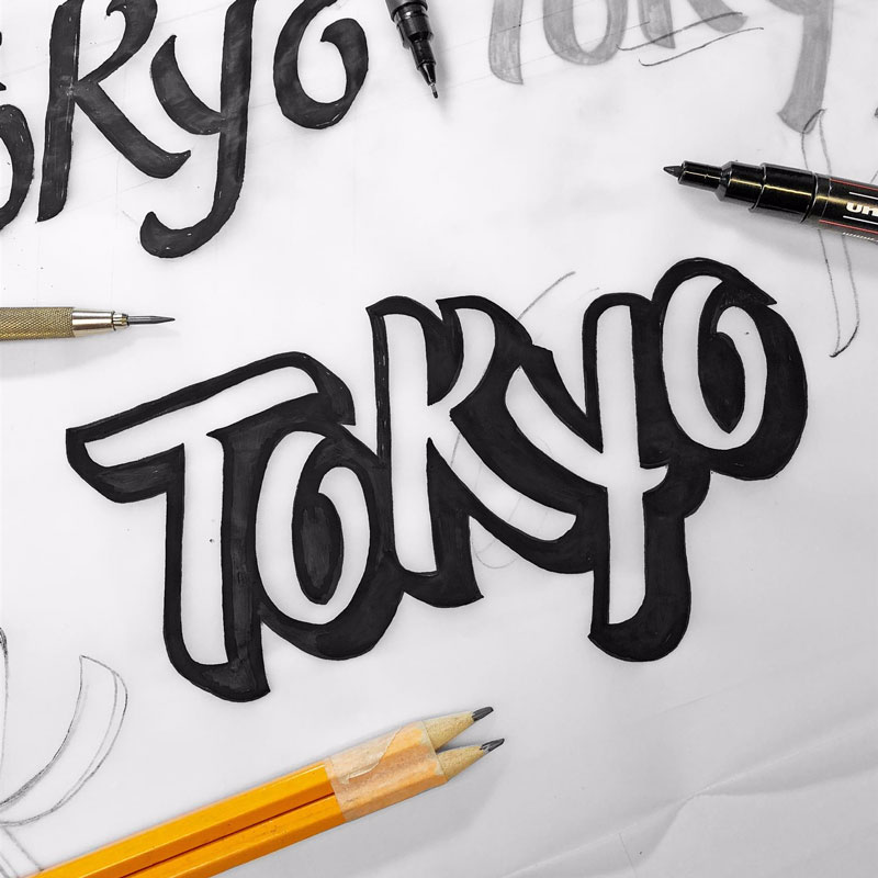 3D lettering with James Lewis