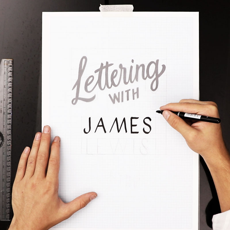 Hand Lettering with James Lewis 레슨 소개