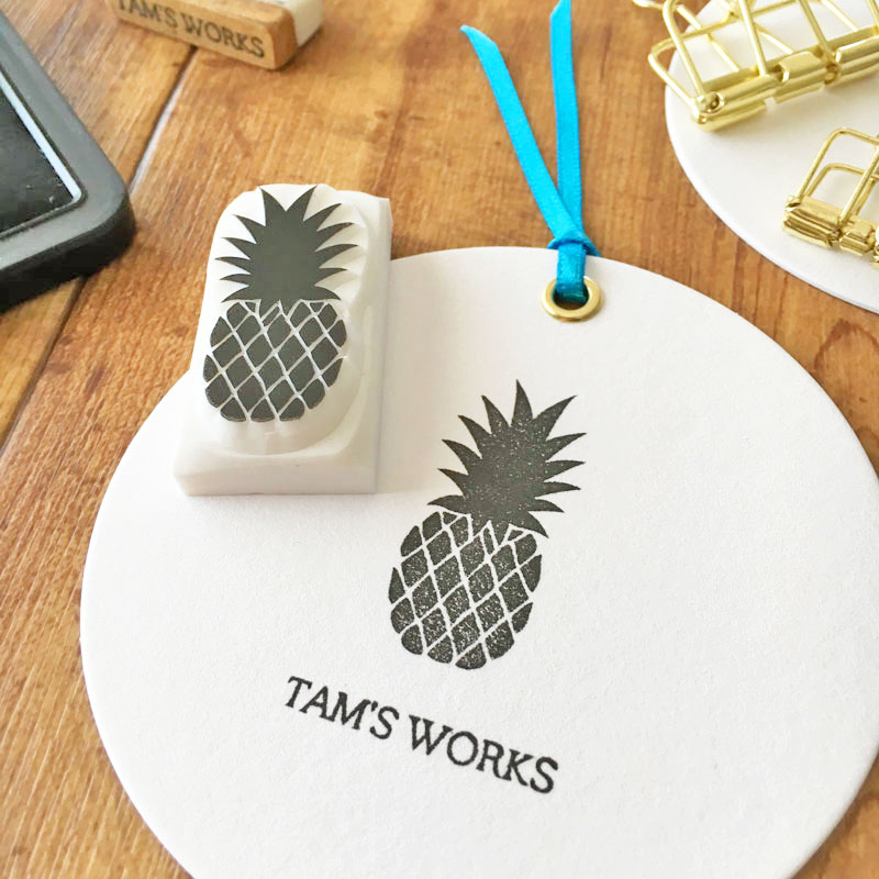 【For Beginners】 How to make a pineapple stamp