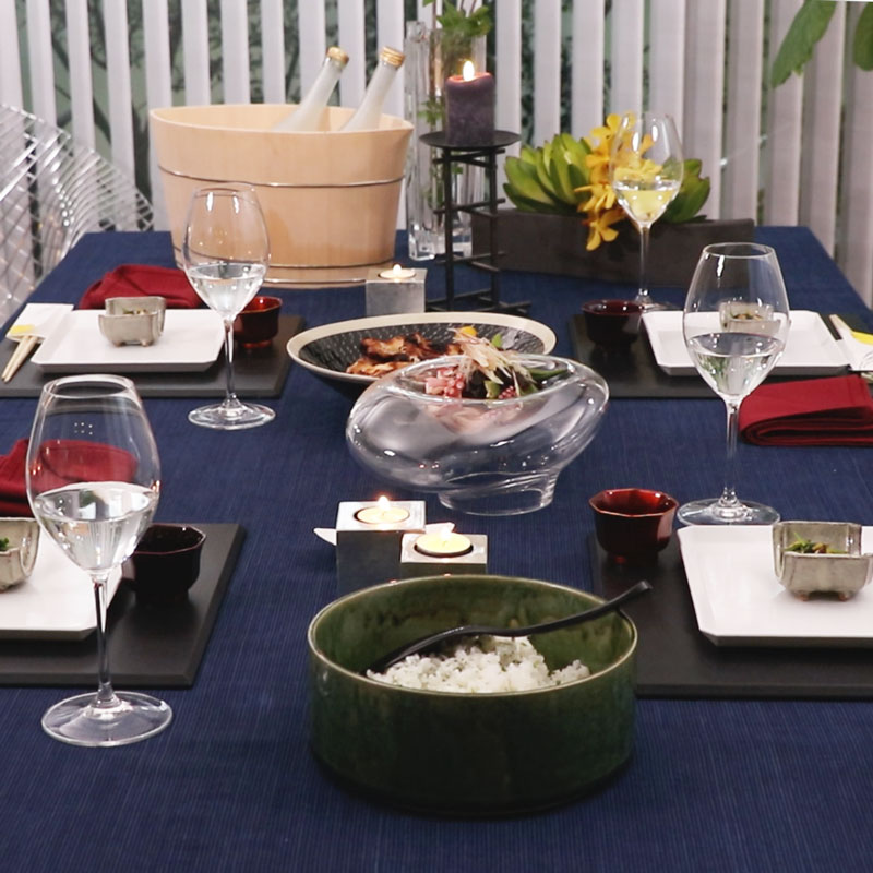 Japanese Hospitality -Fall Table Setting-