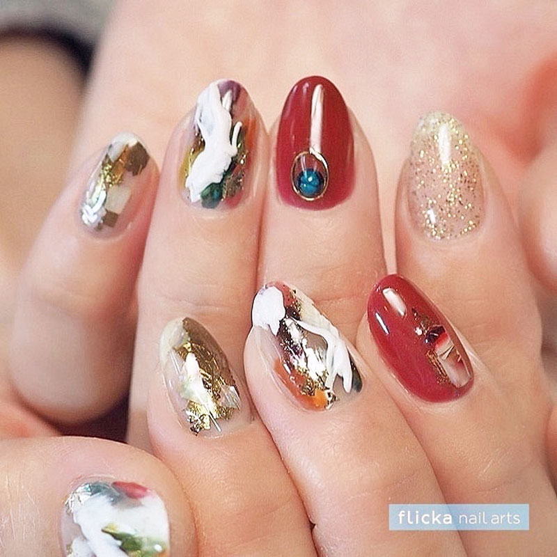 Abstract Modern Nail Art
