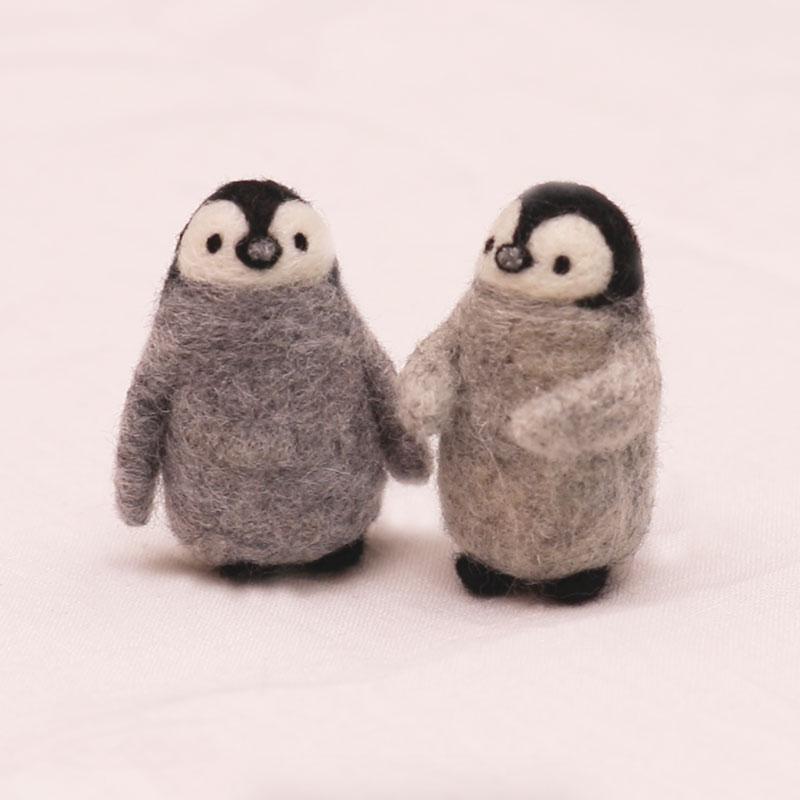 企鵝吉祥物羊毛氈