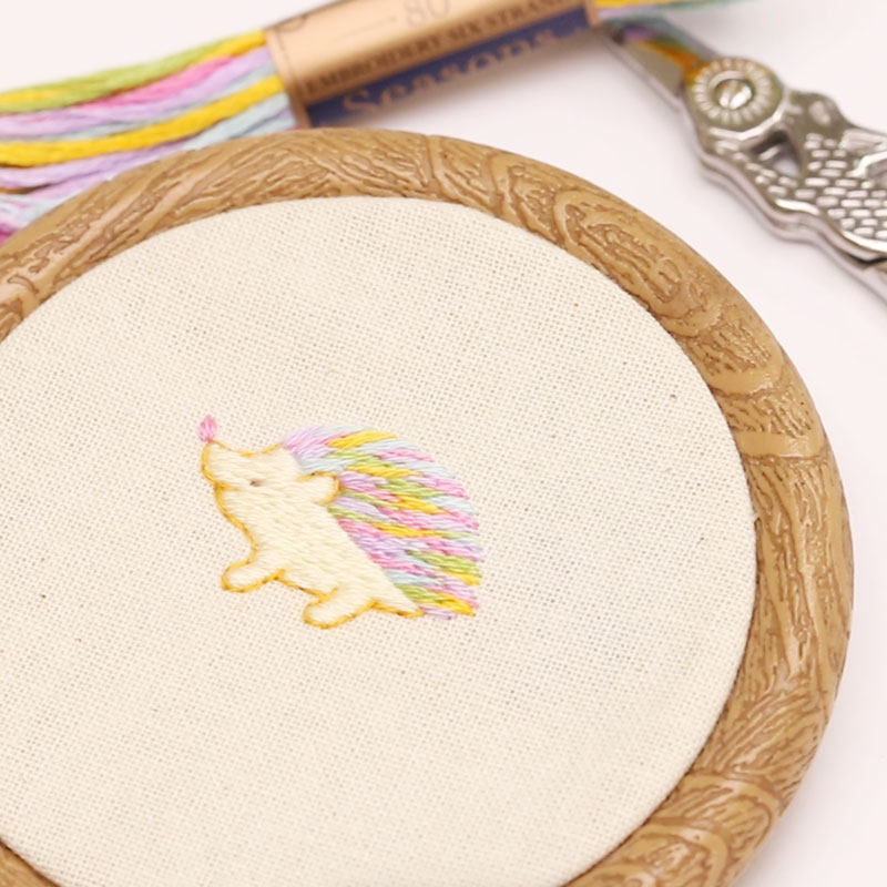 Colorful Hedgehog Embroidery