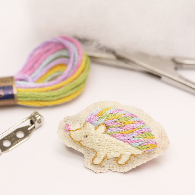 How to Finish Dimensional Embroidered Brooch